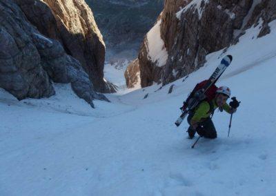 Canalone Neri Cima Tosa - Salita - Sci Alpinismo - Escursione Impegnativa - Guida Alpina Andrea Concini