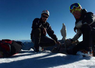 Canalone Neri Cima Tosa - Sosta - Sci Alpinismo - Escursione Impegnativa - Guida Alpina Andrea Concini