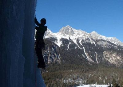 Esposizione - Cascata di Tovel - Arrampicata su ghiaccio - Guida Alpina Andrea Concini