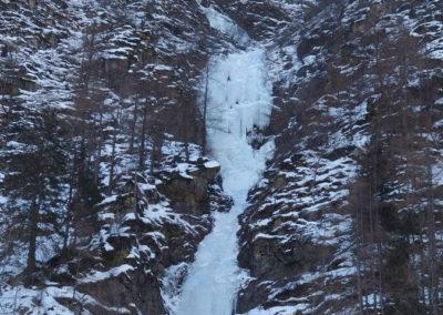 Panoramica Cascata Grand Hotel - Arrampicata su ghiaccio - Guida Alpina Andrea Concini