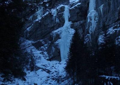 Panoramica - Cascata di Tovel - Arrampicata su ghiaccio - Guida Alpina Andrea Concini