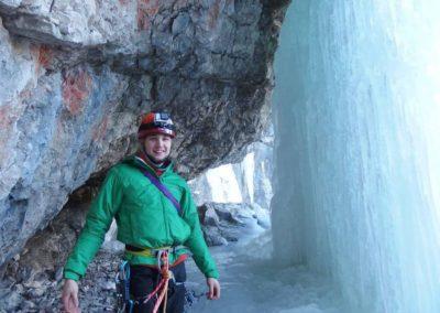 Parete - Cascata di Tovel - Arrampicata su ghiaccio - Guida Alpina Andrea Concini