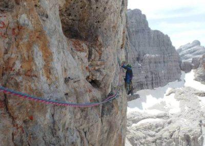 Parete esposta - Arrampicata su roccia - Guida Alpina Andrea Concini
