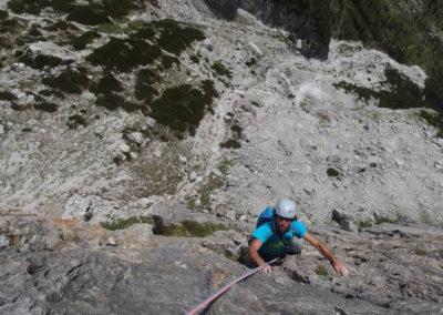 Salita - Arrampicata su roccia - Guida Alpina Andrea Concini