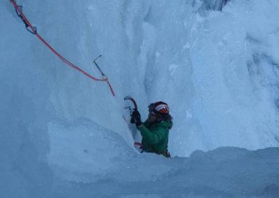 Salita Cascata Grand Hotel - Arrampicata su ghiaccio - Guida Alpina Andrea Concini