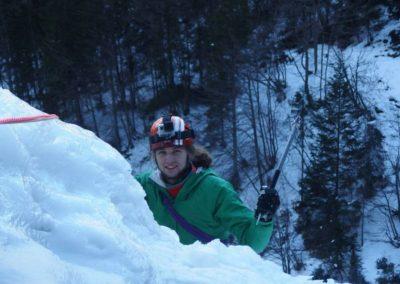 Salita - Cascata di Tovel - Arrampicata su ghiaccio - Guida Alpina Andrea Concini