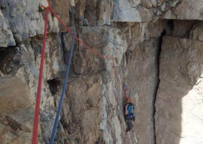 Tetto - Arrampicata su roccia - Guida Alpina Andrea Concini