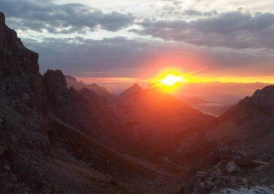 Tramonto - Guida Alpina Andrea Concini